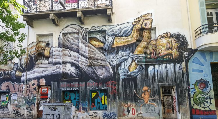 Athens Surprising Street Art Scene with Entrepreneur Social Club world traveler