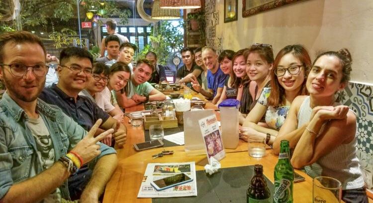 Founder Michael Scott Novilla and his Entrepreneur Social Club returns to Toong Coworking Hanoi Vietnam