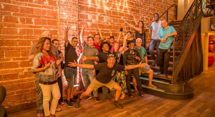 "June 13, 2019 Entrepreneur Social Club at St. Pete venue NOVA 535 where Michael Scott Novilla shares ""A healthy man has 1000 wishes a sick man has only one"""